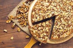 与罂粟种子和杏仁的自创饼剥落 库存照片