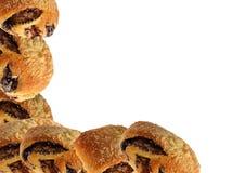 与罂粟种子的小甜面包 图库摄影