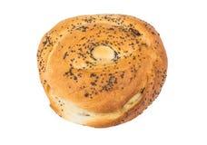 与罂粟种子的甜开胃小圆面包 免版税库存图片