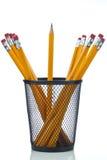 与罐的铅笔 免版税图库摄影