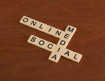 与网上词的纵横填字游戏,社会,媒介 数字式marke 库存图片