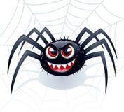 与网的邪恶的蜘蛛 库存照片