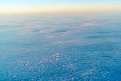 与美丽的云彩的抽象背景在日出 图库摄影