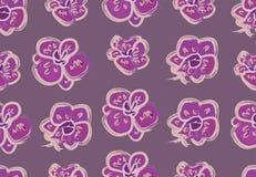 与美丽的兰花的传染媒介无缝的样式 库存例证