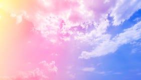 与美丽的天空的颜色的抽象背景 库存图片