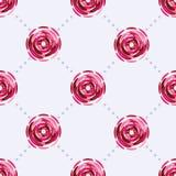 与美丽的桃红色花的无缝的样式 向量例证