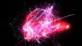 与美丽的萤火虫的Loopable背景 库存例证