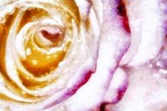 与美丽的葡萄酒背景上升了 个人计算机艺术 免版税库存照片