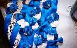 与美丽的装饰花的Ikebanas 免版税图库摄影