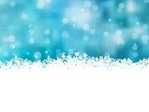 与美丽的雪花的蓝色圣诞节。 EPS 8 库存照片