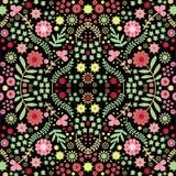 与美丽的risal花的传染媒介无缝的样式 免版税图库摄影