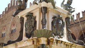与美人鱼的海王星雕象 影视素材
