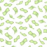 与美元的无缝的样式 免版税库存照片