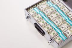 与美元的金属盒 免版税图库摄影