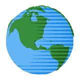 与美国和加拿大的可笑的样式地球可笑的样式地球的 库存例证