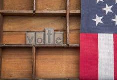 与美国国旗的表决 免版税图库摄影