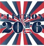 与美国旗子例证的竞选2016年 免版税库存图片