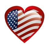 与美国旗子的心脏爱 皇族释放例证
