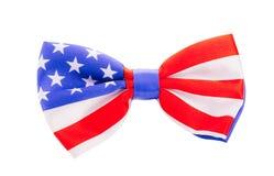 与美国旗子的蝶形领结 美国标志 库存图片
