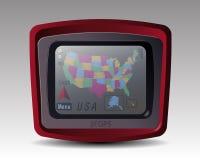 与美国的地图的GPS 免版税图库摄影