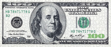与美国金钱的难题 免版税库存图片