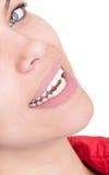 与美好的微笑的半面孔 免版税库存照片