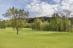 与美好的捷克高尔夫球场的风景 库存照片
