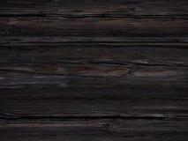 与美好的纹理的老黑暗的木背景 免版税图库摄影