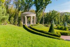 与美好,切好的creslons以绿色,春天公园的树荫处 婚礼照相讲席会的理想的地方 人和 图库摄影