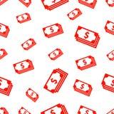 与美金的无缝的样式 库存照片