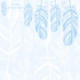 与羽毛的柔和的抽象背景 向量例证