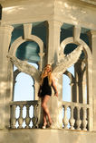 与翼的天使 库存图片