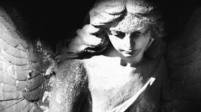 与翼的天使 免版税库存照片