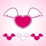 与翼的心脏,传染媒介例证 皇族释放例证