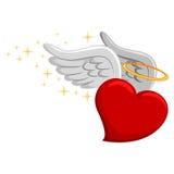 与翼的心脏 图库摄影