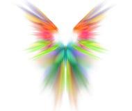 与翼纹理的白色抽象背景 彩虹symmetrica 免版税库存图片