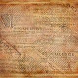与老报纸的Grunge抽象背景 免版税库存图片