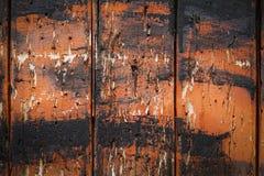 与老棕色和黑油漆的木背景 抽象背景 免版税图库摄影