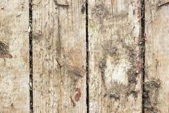 与老油漆小块片断遗骸的老木背景在木头的 图库摄影