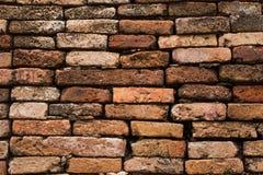 与老砖墙的老砖墙摘要背景 免版税库存图片