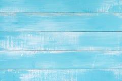 与老自然样式或老木纹理台式视图的蓝色木纹理背景表面 免版税库存图片