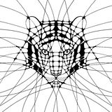 与老虎的图表例证 库存图片