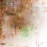 与老被撕毁的海报的Grunge抽象背景 免版税库存照片