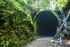 与老隧道的绿色valey 库存照片