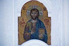 与耶稣基督的图象的马赛克 图库摄影