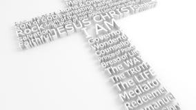与耶稣基督的圣经的名字的十字架 影视素材