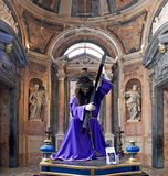 与耶稣基督雕象的Paso复活节的 免版税库存照片
