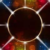 与聚光灯的抽象圆环 库存图片