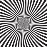 与聚合在中心的单色光芒、线或者条纹的荧光的背景 与错觉的背景或 库存例证