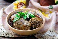 与肝脏,传统乌克兰烹调盘的Grechanik  免版税库存图片